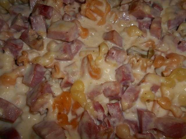 recettes de gratin de pates et jambon 2
