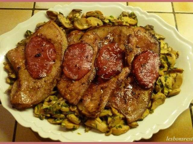 Recettes de foie de veau et champignons - Recette foie de veau poele ...