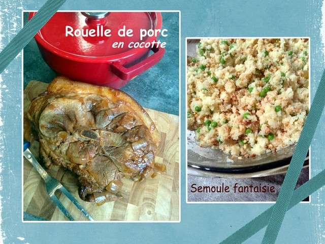 recettes de rouelle de porc de les casseroles de carole. Black Bedroom Furniture Sets. Home Design Ideas