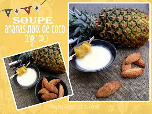 recettes d 39 ananas frais et noix de coco. Black Bedroom Furniture Sets. Home Design Ideas