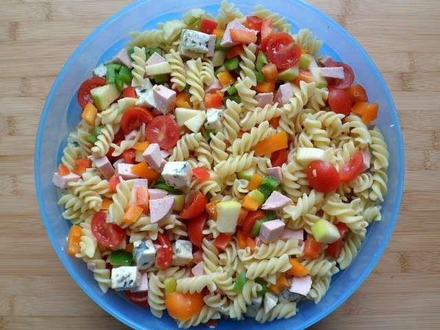 Les meilleures recettes de salade de p tes - Decoration de salade sur assiette ...