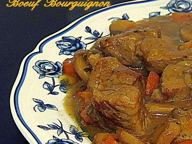 Recettes de b uf de les d lices de lina - Quel vin pour cuisiner un boeuf bourguignon ...