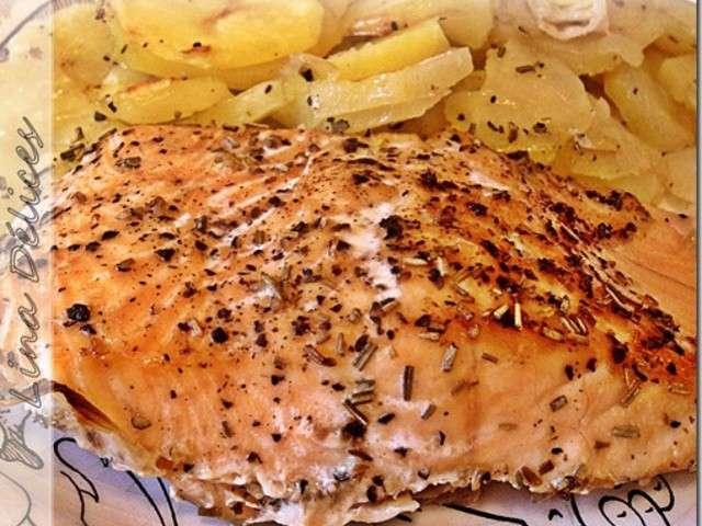 Recettes de cuisine au four de les d lices de lina - Recette saumon au four avec pomme de terre ...