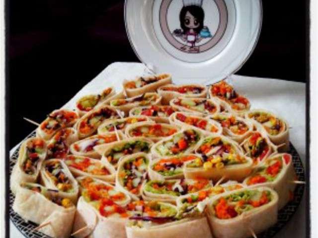 Les meilleures recettes de wrap - Recette pour apero dinatoire ...