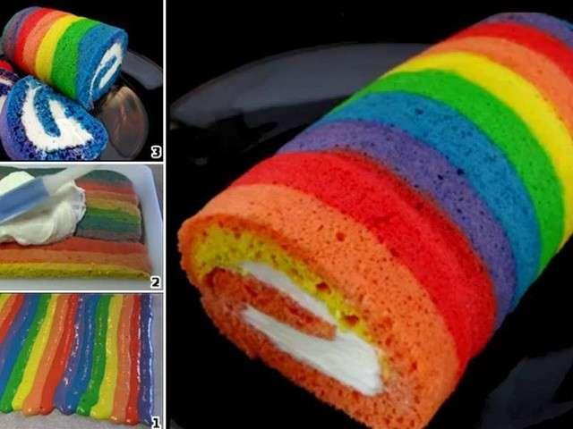 Rainbow Cake Mascarpone Citron Thermomix