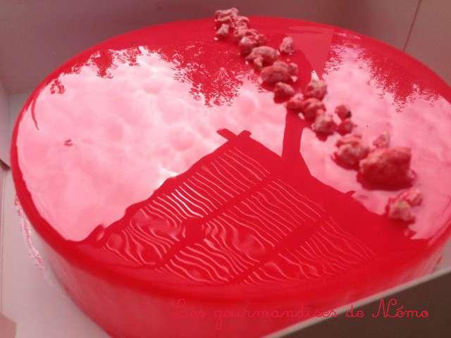 Recettes de gla age et fraises for Miroir aux fraises