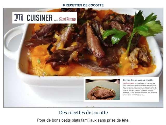 Recettes de veau et foie - Cuisiner le veau en cocotte ...