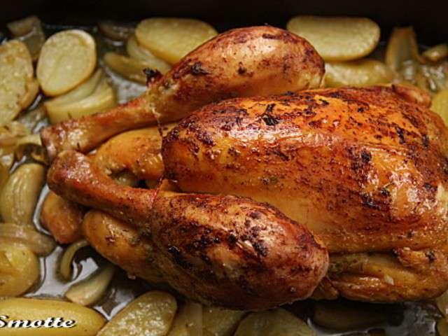 Recettes de poulet r ti et moutarde - Cuisiner un poulet roti ...