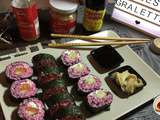 Maki rose au saumon