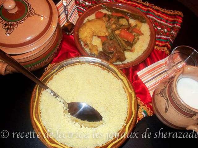Recettes de couscous et plats 4 for Recette kabyle tikourbabine