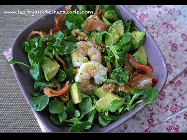 les meilleures recettes de salades et saumon. Black Bedroom Furniture Sets. Home Design Ideas