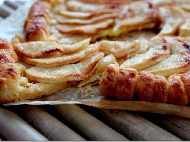 Recettes de tarte aux pommes et sucre 2 - Tarte aux pommes fine ...
