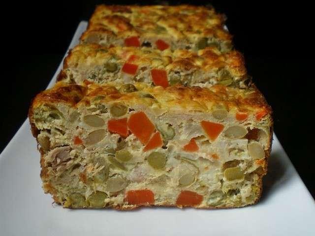 Recette Cake Au Thon Et Petits Legumes