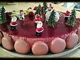 Bavarois de noel aux fruits rouges