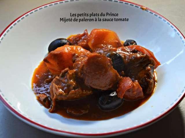Recettes de b uf et sauce tomate - Cuisiner le paleron de boeuf ...