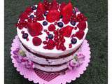 Nude Cake fruits rouges