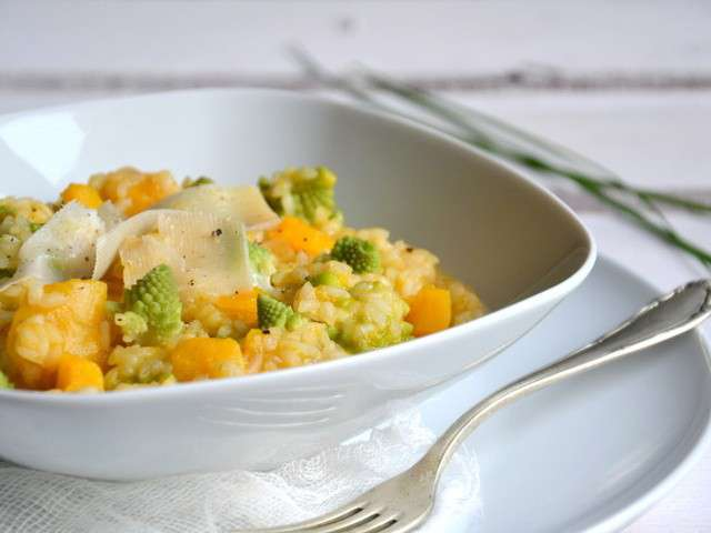 recettes de chou romanesco et risotto. Black Bedroom Furniture Sets. Home Design Ideas