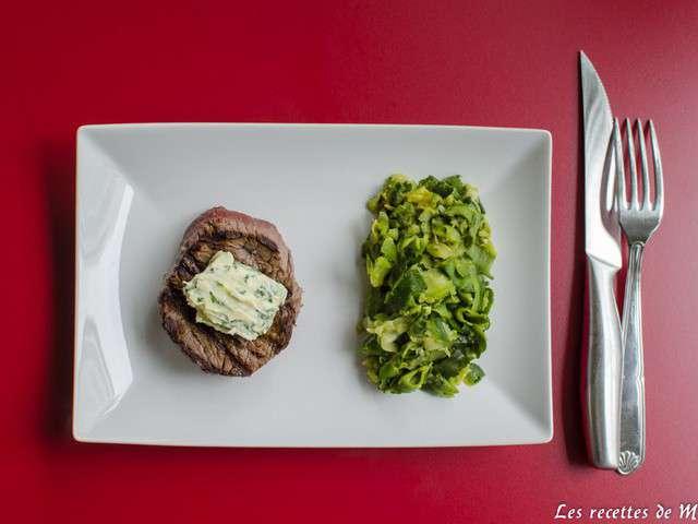 tournedos-grille-beurre-maitre-d-hotel-et-tagliatelles-de-courgettes ...
