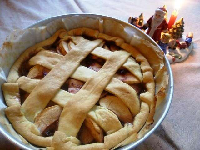 Recettes de pomme de les recettes de pauline - Tarte soleil aux pommes ...