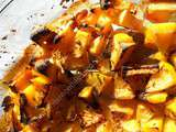 Rutabagas rôtis au miel au piment et carvi / Honey-roasted swede with chilli & caraway