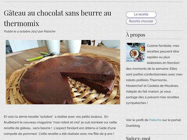 Recettes de g teau au chocolat de les recettes sympatoches - Gateau au chocolat sans four ...