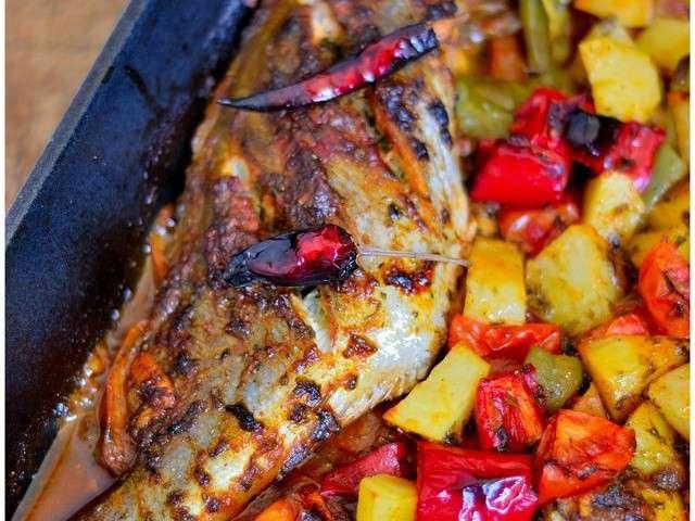 Les meilleures recettes de maroc et poisson - Cuisiner du cabillaud au four ...