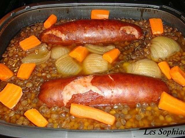 Les meilleures recettes de lentilles et saucisse 4 - Comment cuisiner la saucisse de morteau ...