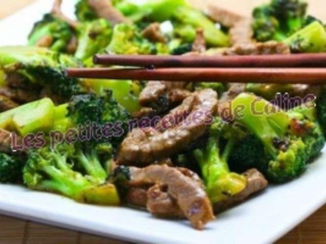 wok de boeuf et brocolis a la sauce d huitres