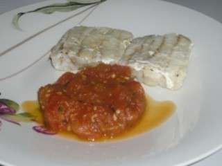 Filets de cabillaud sauce au citron et tomates
