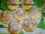Mini cakes aux fruits secs