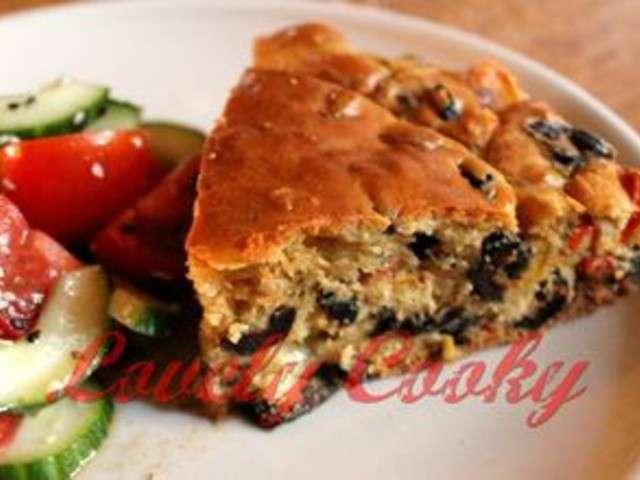 Cake Olives Mozzarella Poivrons