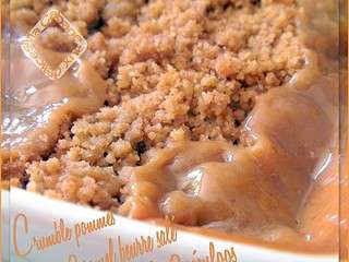 Crumble pommes caramel beurre salé speculoos