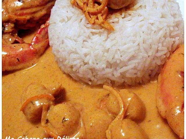 Recettes de po l e de cuisinez avec djouza - Saint jacques au curry ...