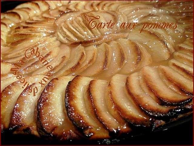 recettes de tarte fine aux pommes. Black Bedroom Furniture Sets. Home Design Ideas