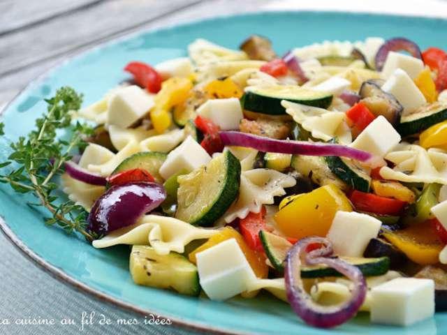 Recettes de l gumes grill s et salade de p tes - Antipasti legumes grilles ...