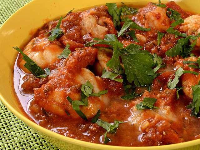 Recettes de lotte et tomates - Lotte a l armoricaine recette cuisine ...