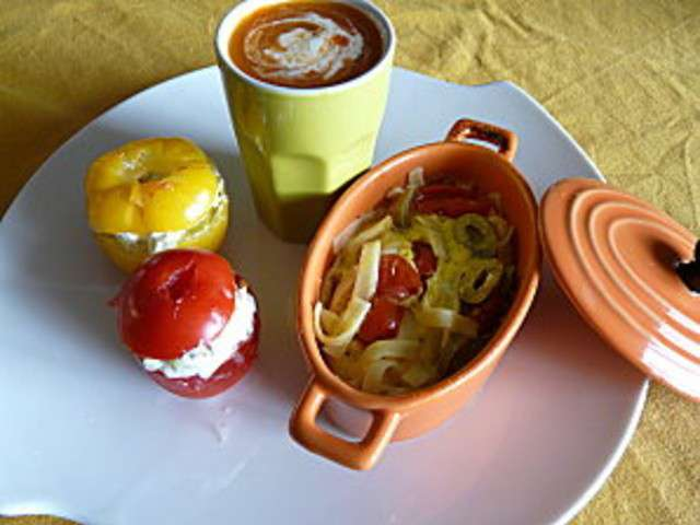 Les meilleures recettes de tomates farcies - Recette de cuisine marmiton entree froide ...