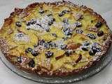 Tarte aux pommes et cranberries à la farine de châtaigne et à la patate douce