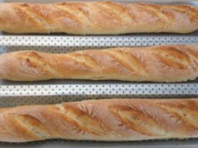 Recettes de pain de ma spatule for Baguette de pain maison