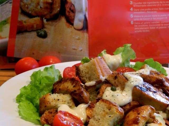 Recettes de salade c sar 7 - Recette salade cesar au poulet grille ...
