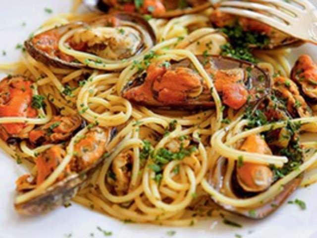 Recettes de spaghetti et fruits de mer - Spaghetti aux fruits de mer ...