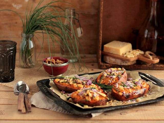 Recettes de patates douces farcies - Comment cuisiner les patates douces recettes ...