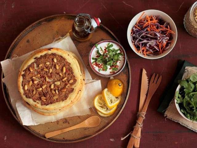 Recettes de pizza libanaise - Recette cuisine libanaise mezze ...