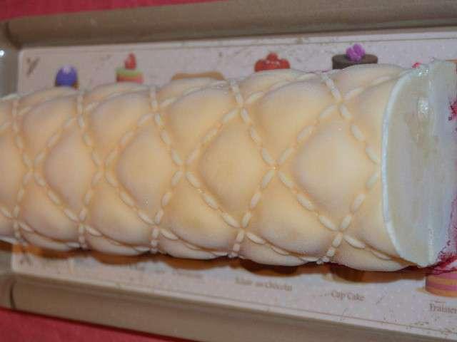 Buche glacee framboise vanille
