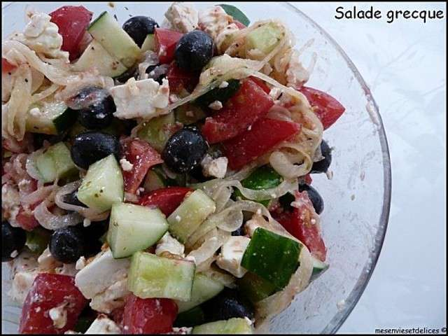 les meilleures recettes de salade grecque et salades. Black Bedroom Furniture Sets. Home Design Ideas