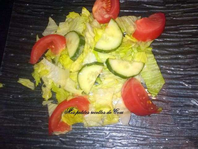 Recettes de salade verte et tomates - Recette salade verte ...