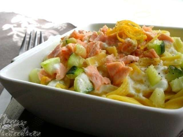 recettes de p 226 tes au saumon et courgettes