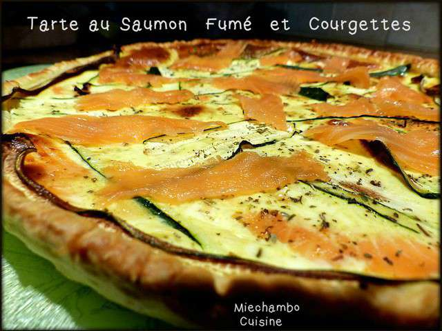 recettes de tarte au saumon fum de miechambo cuisine. Black Bedroom Furniture Sets. Home Design Ideas