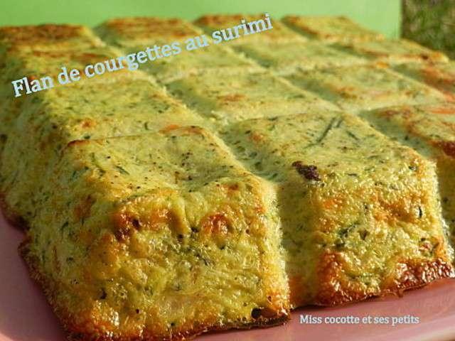 Les meilleures recettes de flan et surimi - Recette flan de courgette thermomix ...