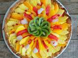 Tarte aux fruits exotiques et lemon curd (Exotic fruit tart with lemon curd)
